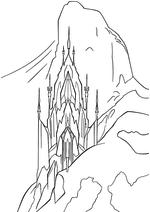 Раскраска - Холодное сердце - Ледовый дворец Эльзы