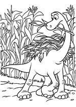 Раскраска - Хороший динозавр - Арло собирает урожай