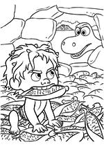 Раскраска - Хороший динозавр - Арло поймал Дружка в амбаре
