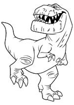 Раскраска - Хороший динозавр - Бур