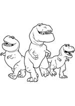 Раскраска - Хороший динозавр - Нэш, Бур и Рамзи