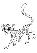 Раскраска - Хранитель Лев - Фули