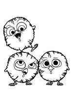 Раскраска - Индюки: Назад в будущее - Птенцы