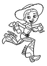 Раскраска - История игрушек - Джесси бежит