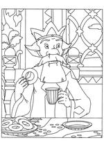 Раскраска Царь пьёт чай