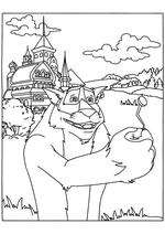 Раскраска - Иван Царевич и Серый волк - Волк подаёт Ивану гвоздь