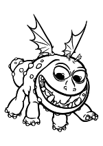 Раскраска - Как приручить дракона 3 - Рыбелёк
