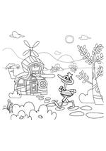 Раскраска - Кинг Дюклинг - Кинг Дюклинг и дом