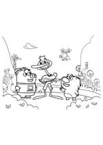 Раскраска - Кинг Дюклинг - Чампкинс, Кинг Дюклинг и Вомбат