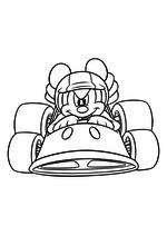 Раскраска - Клуб Микки Мауса - Микки Маус на гоночной машине