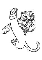 Раскраска - Кунг-фу панда 2 - Мастер Тигрица
