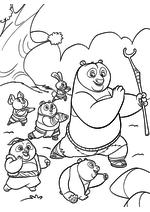Раскраска - Кунг-фу панда 3 - По стал великим учителем кунг-фу
