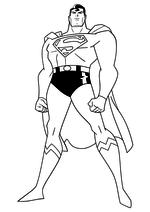 Раскраска - Лига Справедливости - Кларк Кент / Супермен