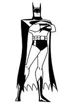 Раскраска - Лига Справедливости - Брюс Уэйн / Бэтмен