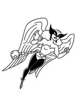 Раскраска - Лига Справедливости - Орлица