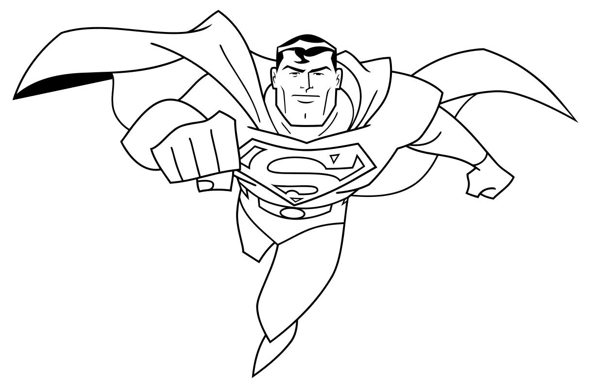 Раскраска - Лига Справедливости - Супермен | MirChild