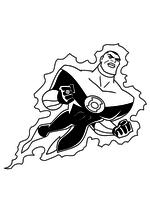 Раскраска - Лига Справедливости - Зелёный Фонарь