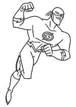 Раскраска - Лига Справедливости - Флэш