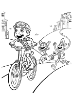 Раскраска - Лука - Лука, Джулия и Альберто