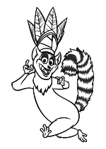 Раскраска - Мадагаскар 2 - Король лемуров Джулиан XIII