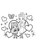 Раскраска - Маленькие волшебницы - Хэйзел и миссис Чарминг