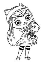 Раскраска - Маленькие волшебницы - Хэйзел и Сэвен
