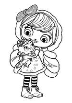 Раскраска - Маленькие волшебницы - Лэвендер и Флэр