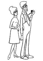 Раскраска Мама и Папа Малыша