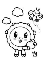 Раскраска - Малышарики - Барашик с яблоком