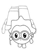 Раскраска - Малышарики - Ёжик с тележкой