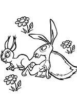 Раскраска - Маша и Медведь - Белка и заяц смотрят на Машу
