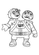 Раскраска - Майлз с другой планеты - Адмиралы Уотсон и Крик