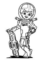 Раскраска - Майлз с другой планеты - Майлз и бластборд