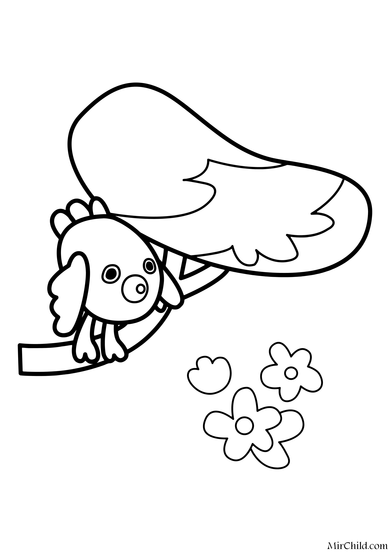 Раскраска - Ми-ми-мишки - Весна | MirChild