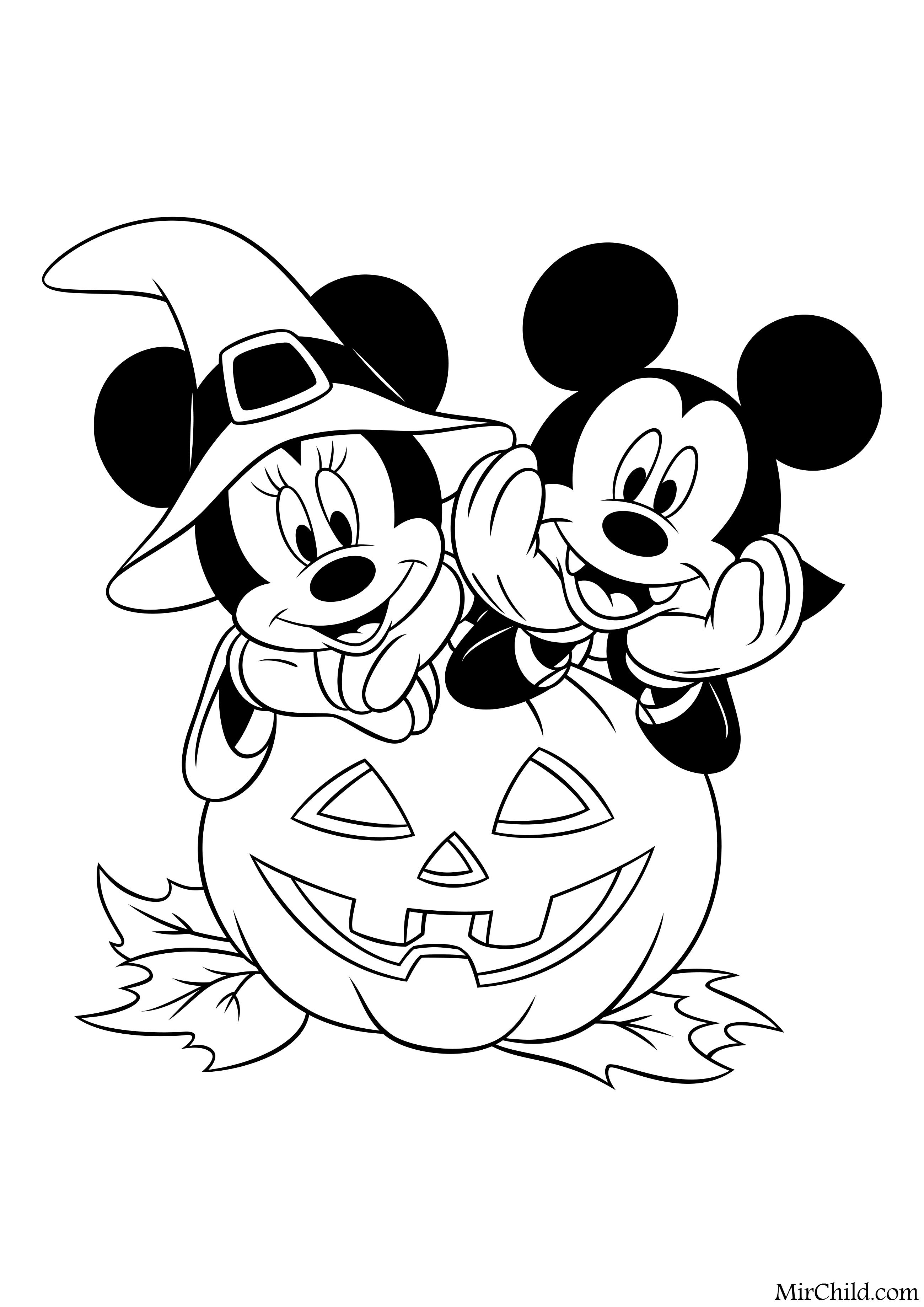 Раскраска - Микки Маус и друзья - Микки и Минни празднуют ...