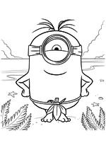 Раскраска - Миньоны - Миньон - островитянин