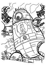 Раскраска - Монстры против пришельцев - Гигантский робот Галактозавра
