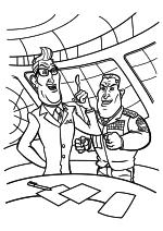 Раскраска - Монстры против пришельцев - Президент Хэтэуэй и Генерал Воякер