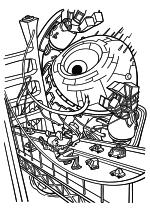 Раскраска - Монстры против пришельцев - Сюзан против огромного робота