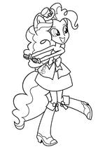 Раскраска - Мой маленький пони: Девочки из Эквестрии - Пинки Пай танцует
