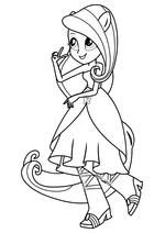 Раскраска - Мой маленький пони: Девочки из Эквестрии - Флаттершай танцует