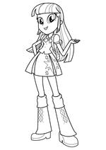 Раскраска - Мой маленький пони: Девочки из Эквестрии - Сумеречная Искорка с рюкзаком