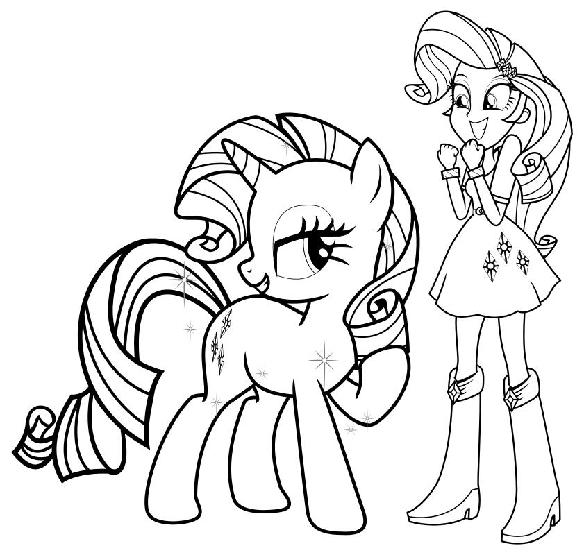 раскраска мой маленький пони девочки из эквестрии
