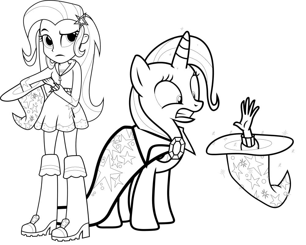 Раскраски пони трикси