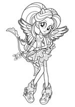 Раскраска - Мой маленький пони: Девочки из Эквестрии - Флаттершай лучница