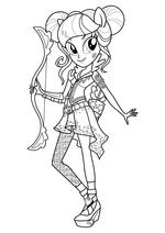 Раскраска - Мой маленький пони: Девочки из Эквестрии - Соур Свит лучница