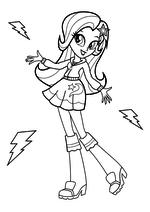 Раскраска - Мой маленький пони: Девочки из Эквестрии - Трикси - девочка