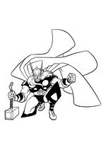 Раскраска - Мстители: Величайшие Герои Земли - Тор