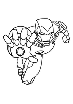 Раскраска - Мстители: Величайшие Герои Земли - Железный Человек
