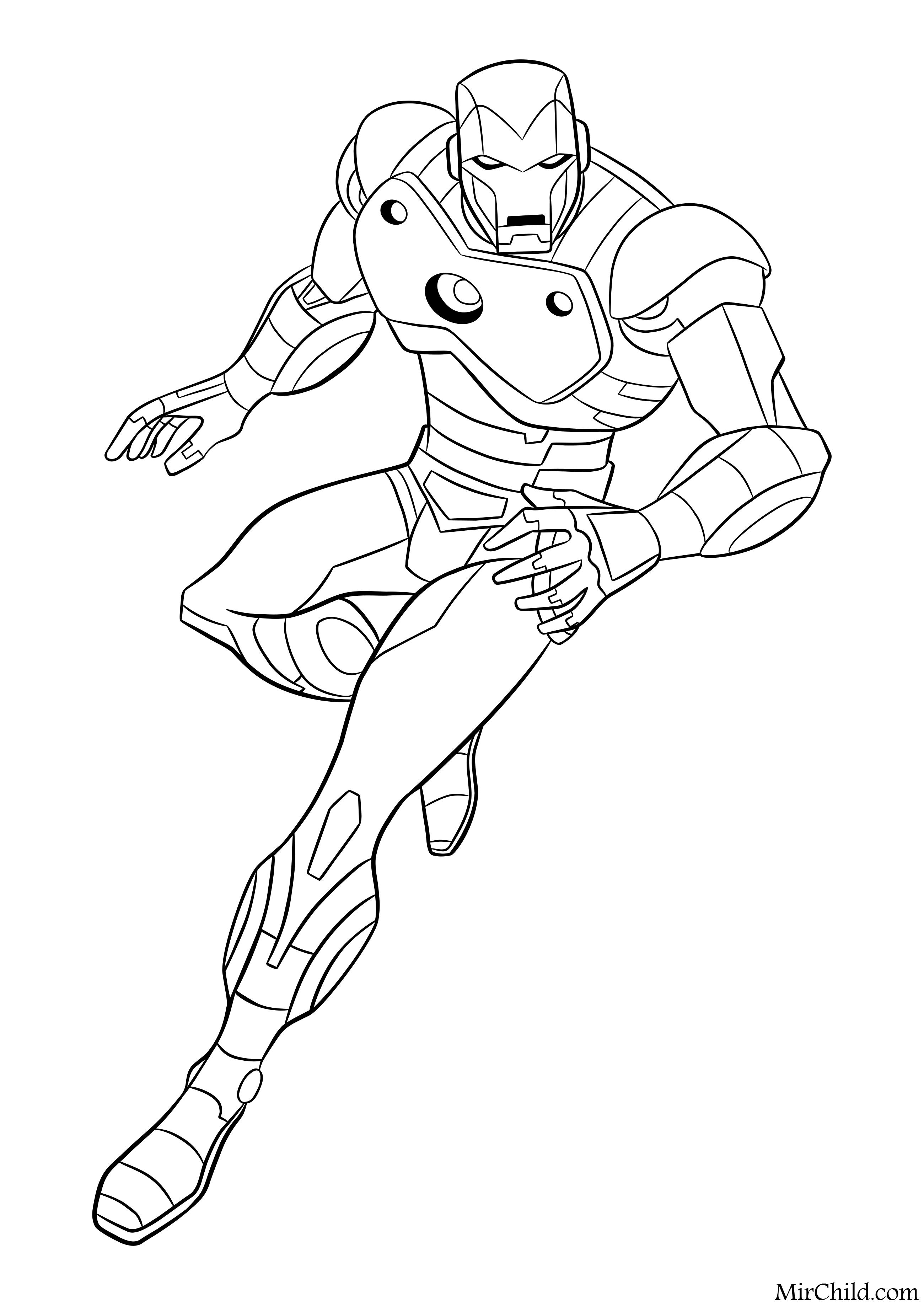 Раскраска - Мстители: Величайшие Герои Земли - Железный ...
